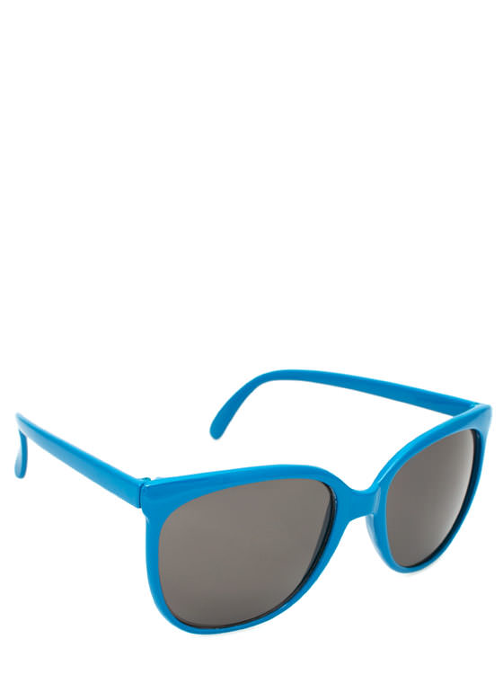 Slim Rounded Sunglasses BLUE