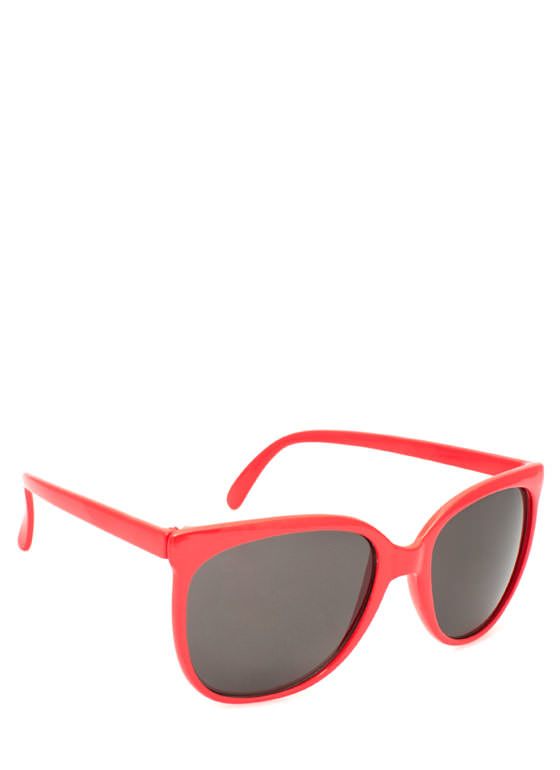 Slim Rounded Sunglasses NEONORANGE