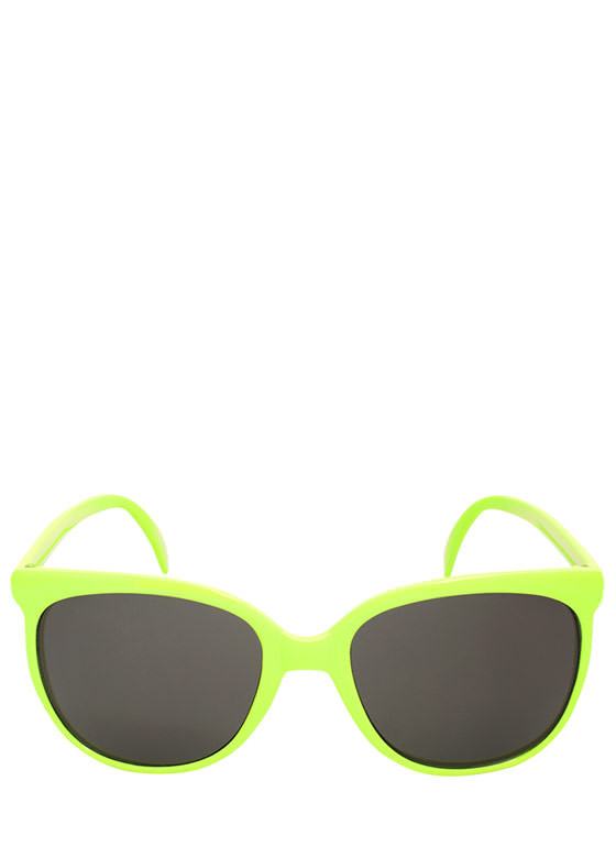 Slim Rounded Sunglasses YELLOW