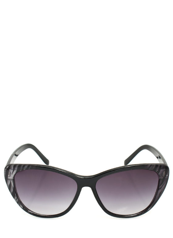 Patterned Cat Eye Sunglasses ZEBRA