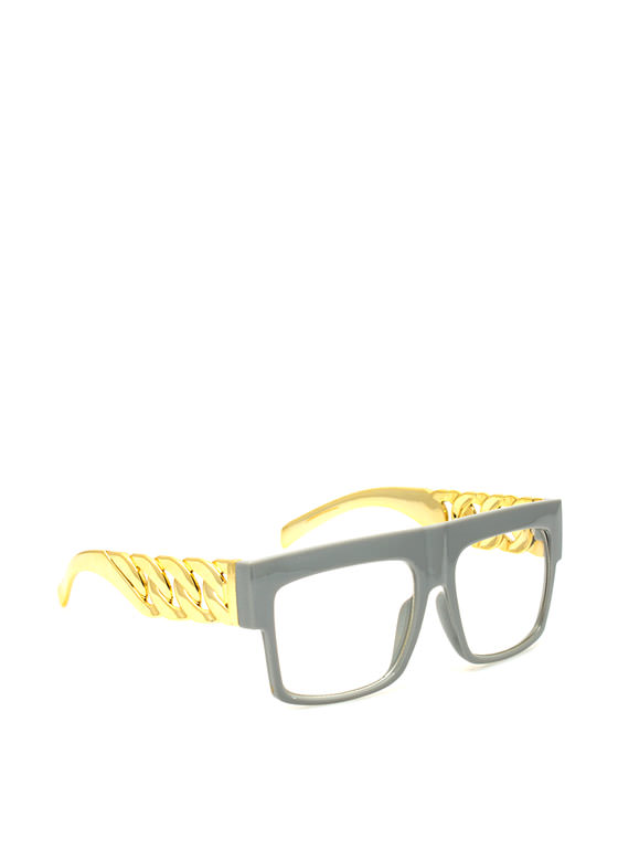 Chain Accent Glasses GREY