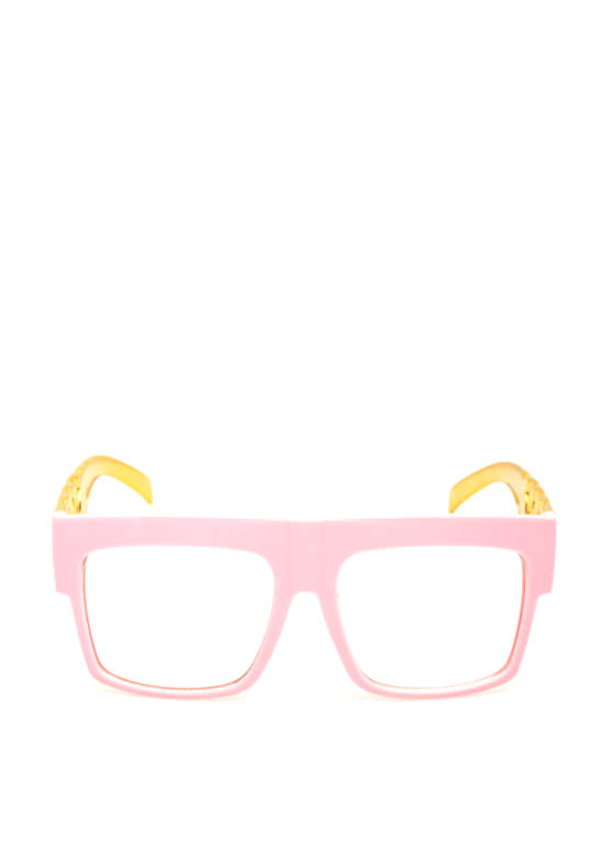 Chain Accent Glasses PINK