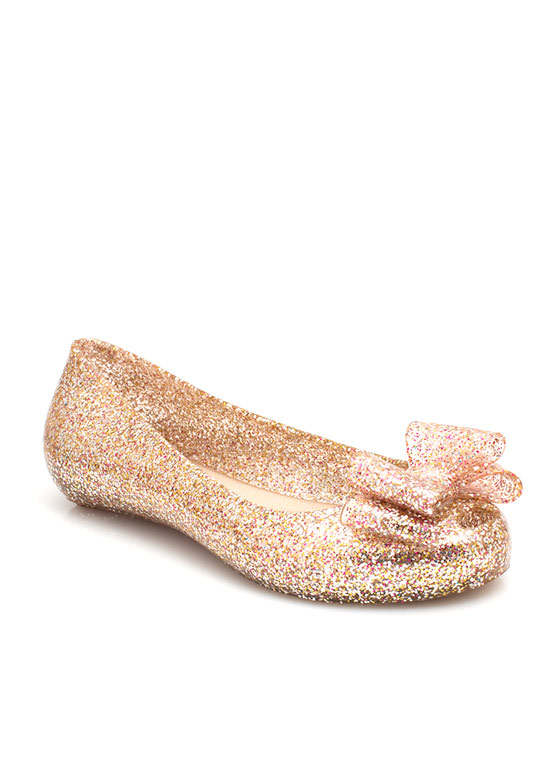 Plenty Of Sparkle Jelly Flats ROSE