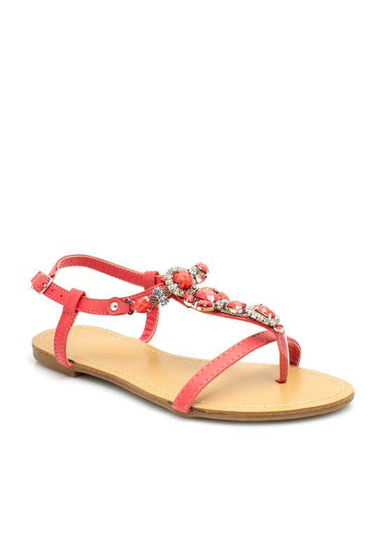 Bejeweled Strappy Sandals CAYENNE