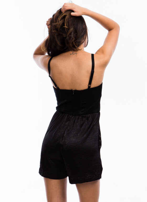 Smooth Operator Bustier Romper BLACK