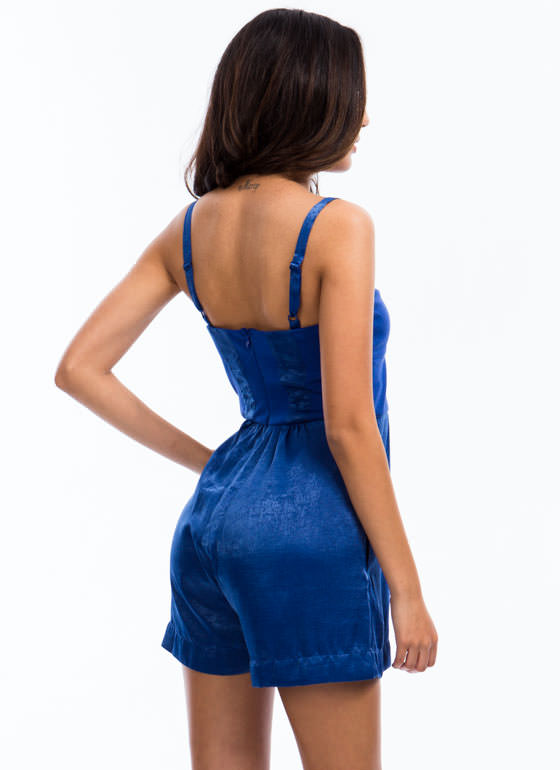 Smooth Operator Bustier Romper BLUE
