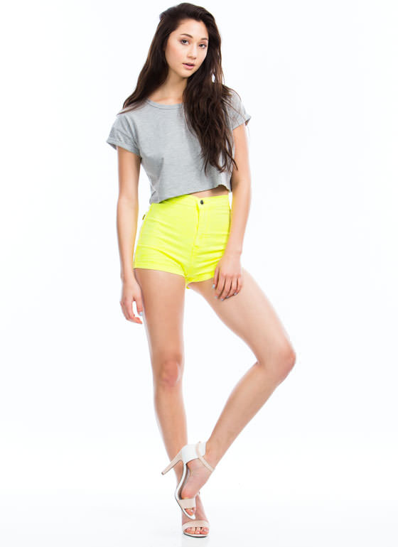 Neon Of Ur Business Shorts NEONYELLOW