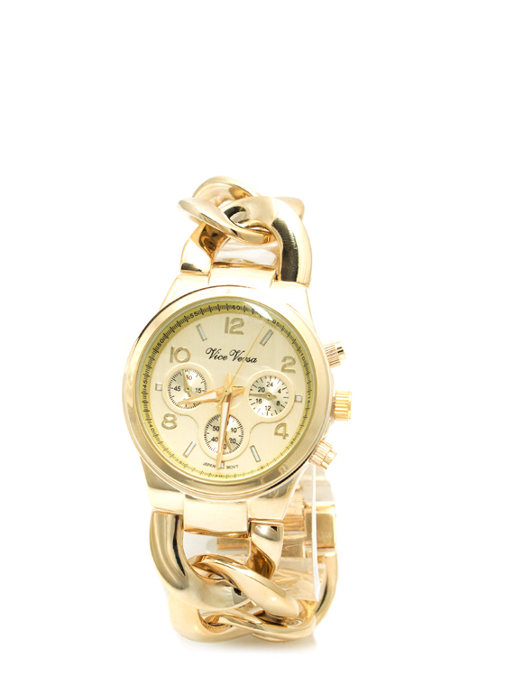 All Chains Chronograph Watch GOLD