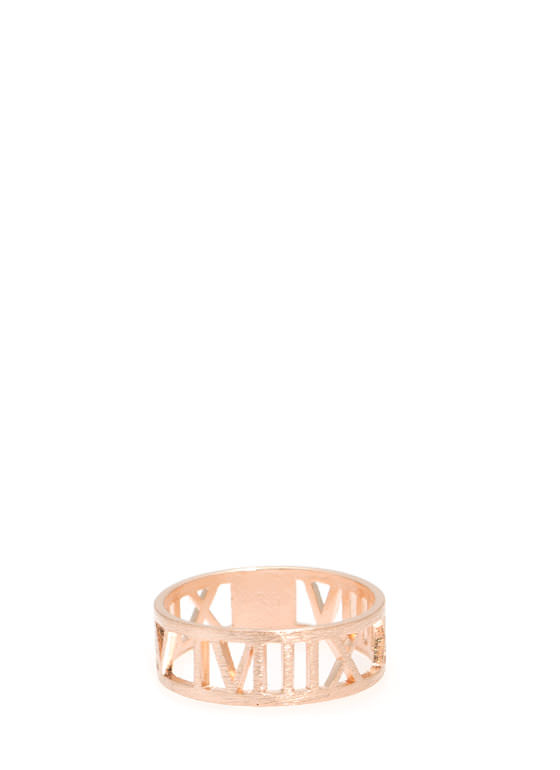 Cut-Out Roman Numeral Ring ROSEGOLD