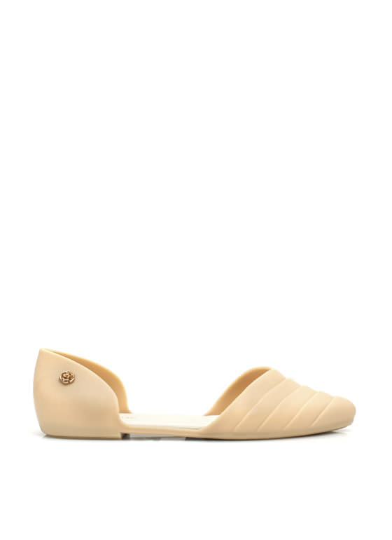 Weave It At That Pointy Jelly Flats NUDE