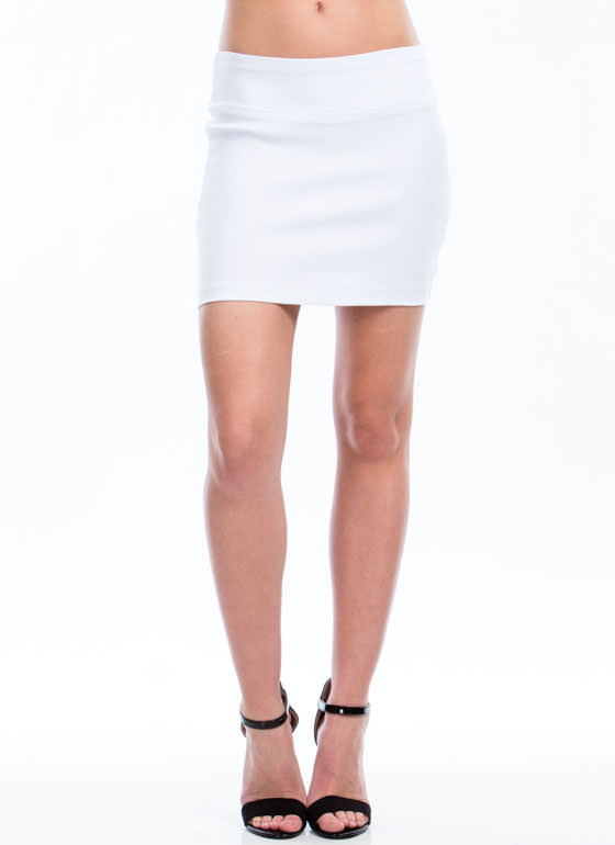 Perfect Basic Mini Skirt WHITE