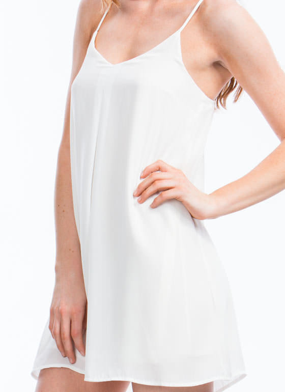 Single Pleat Cami Dress OFFWHITE