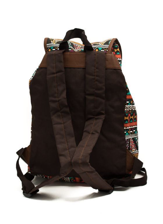Tribe Vibe Drawstring Backpack BLACKMULTI