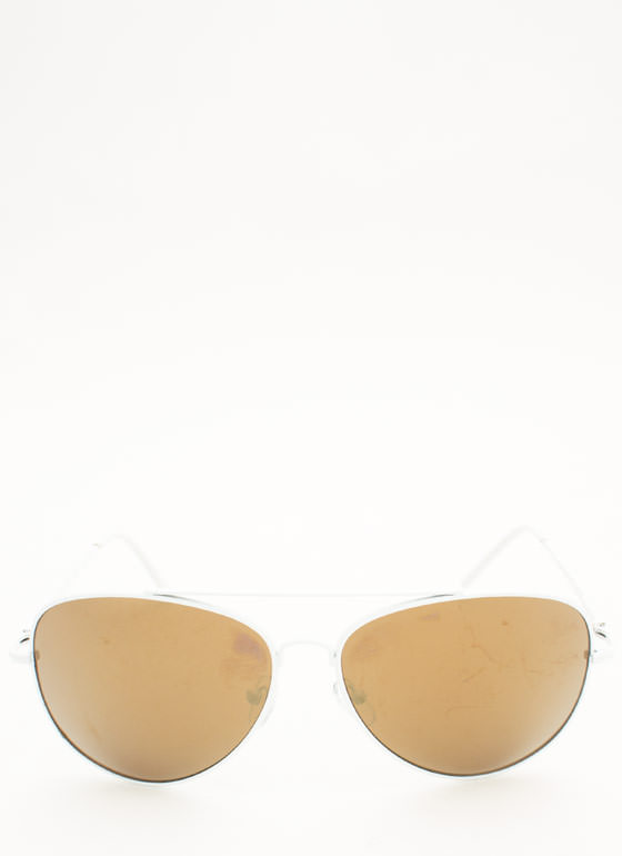 Reflective Aviator Sunglasses GREY