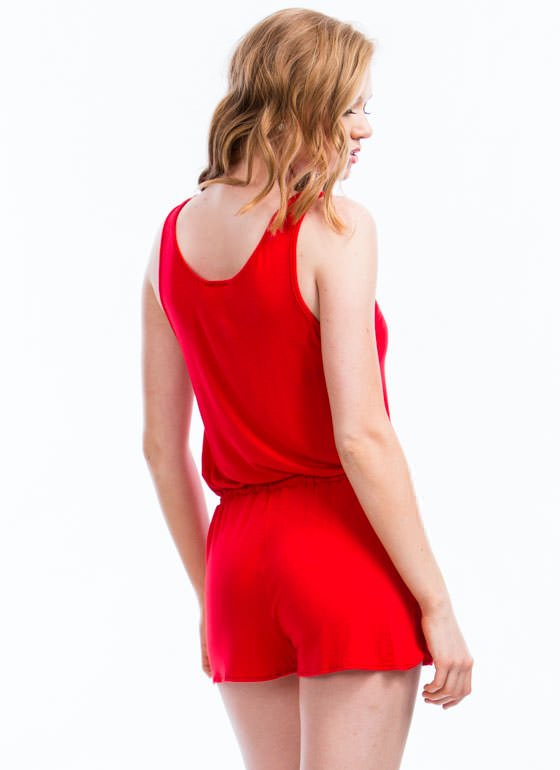 Keep It Simple Romper RED