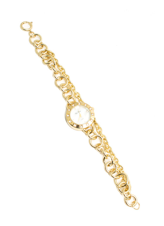 Double Chain Link Watch GOLD