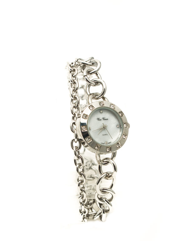 Double Chain Link Watch SILVER
