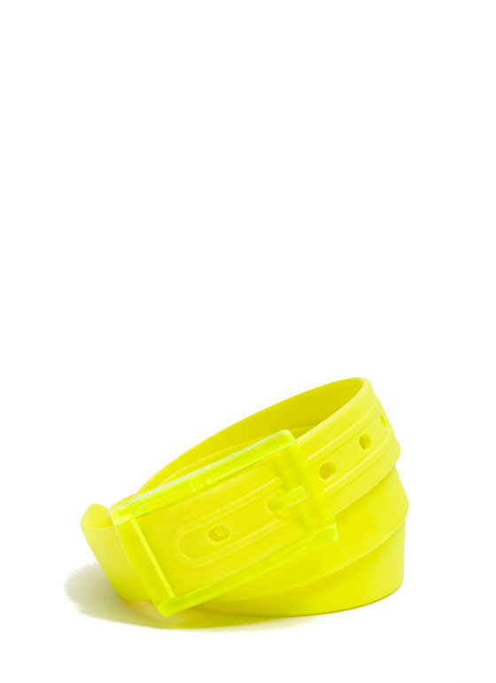 Buckled Silicone Belt NEONYELLOW