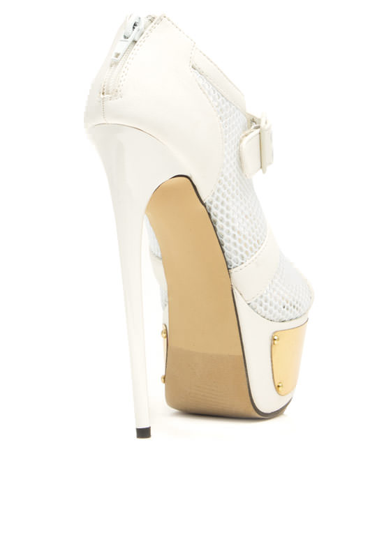 Sport Of Queens Strappy Mesh Platforms WHITE