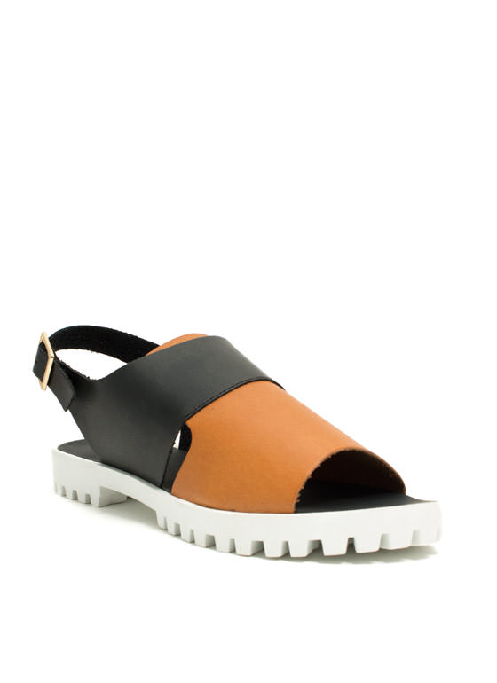Join The Panel Lug Sole Sandals BLACK