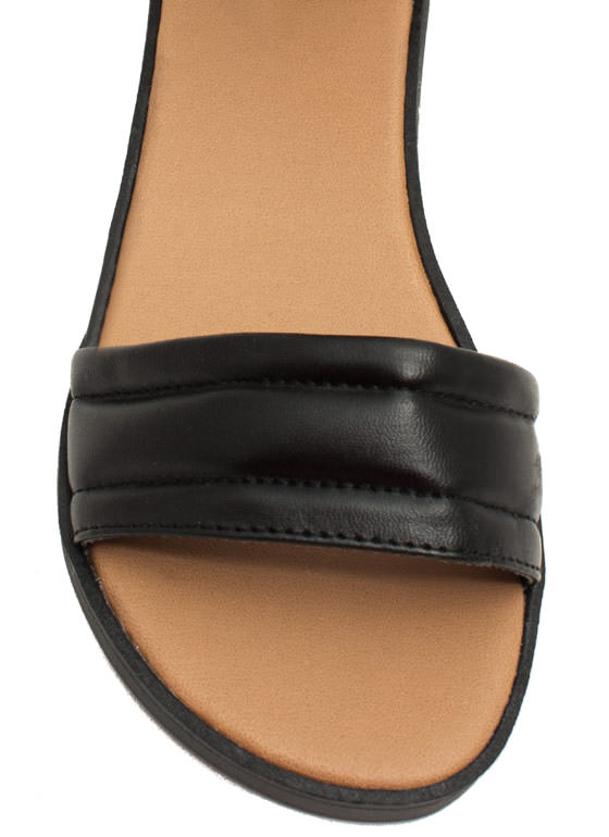 Rock N Quilted Faux Leather Sandals BLACK