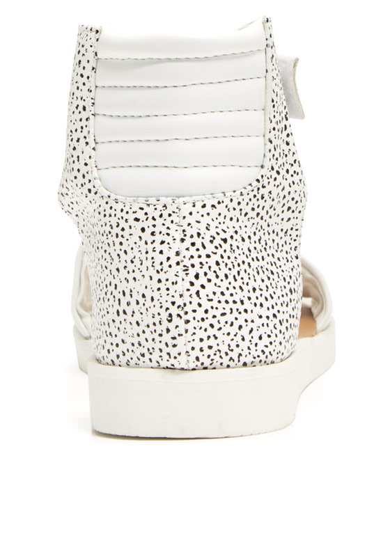 Rock N Quilted Faux Leather Sandals WHITE