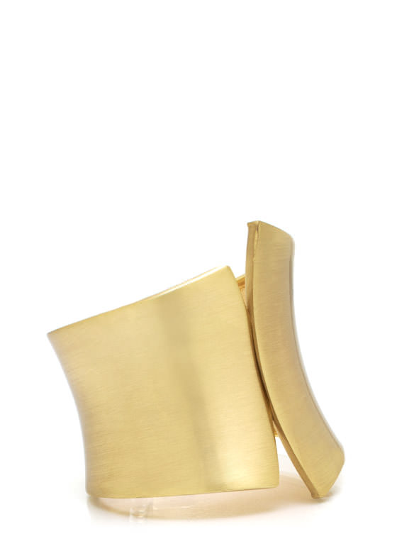Asymmetrical Hinged Cuff Bracelet GOLD