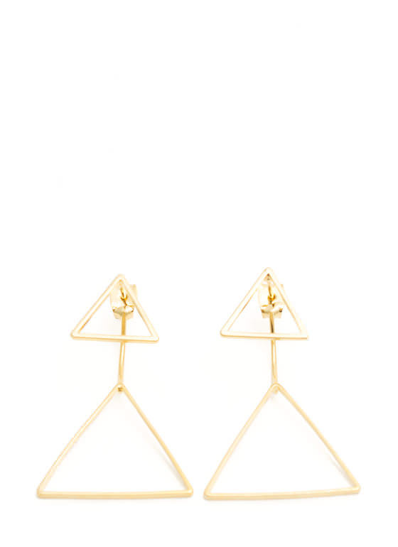 Doubled Triangle Earrings GOLD