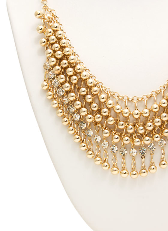 Embellished Chainmail Necklace GOLD