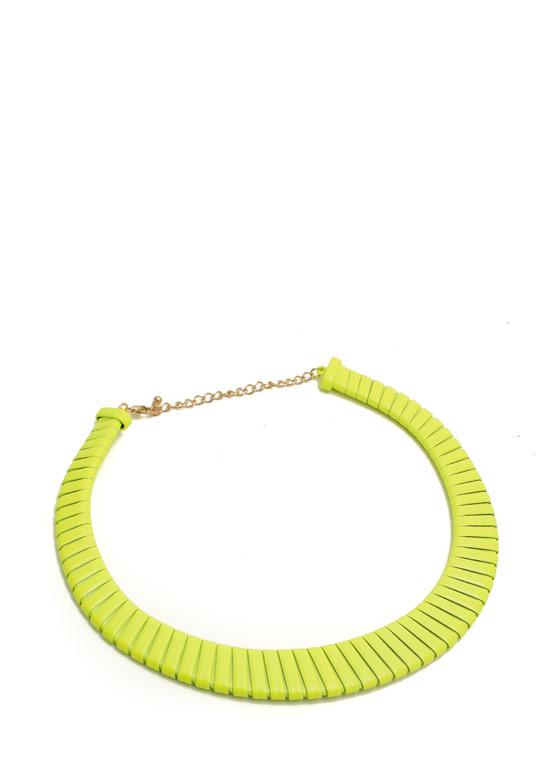 Wrapped In Neon Necklace NEONYELLOW