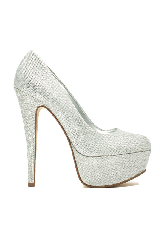 Love At First Metallic Stiletto Heels SILVER