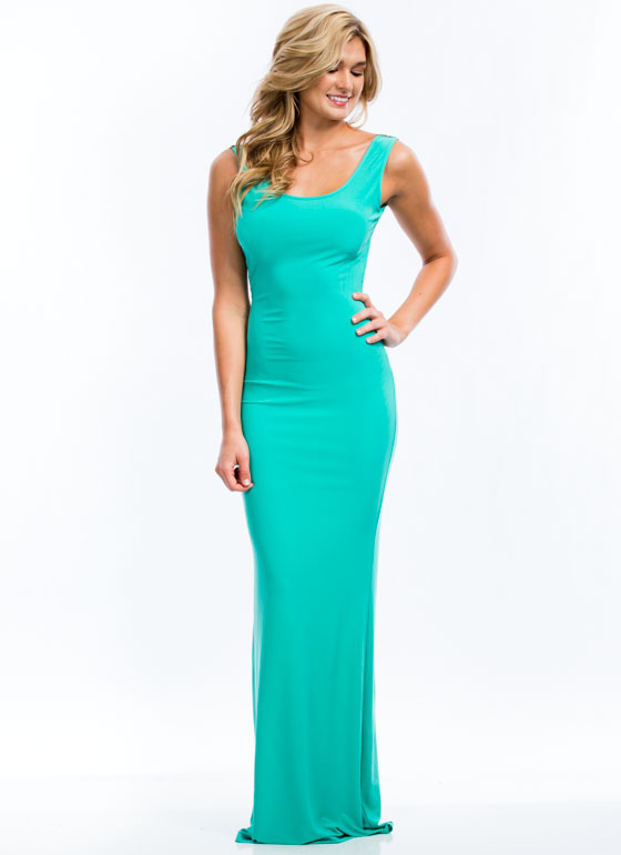 Plunging Embroidered Maxi Dress JADE