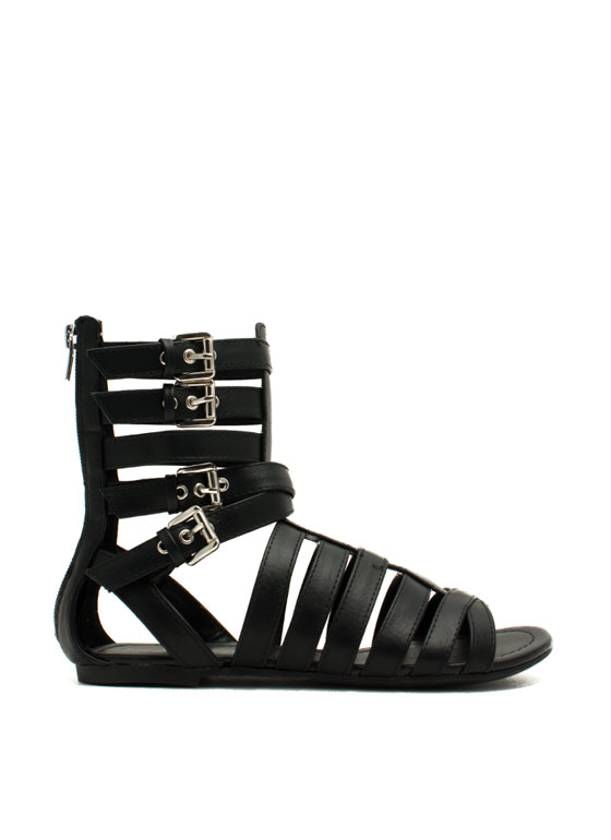 Four Good Strappy Gladiator Sandals BLACK