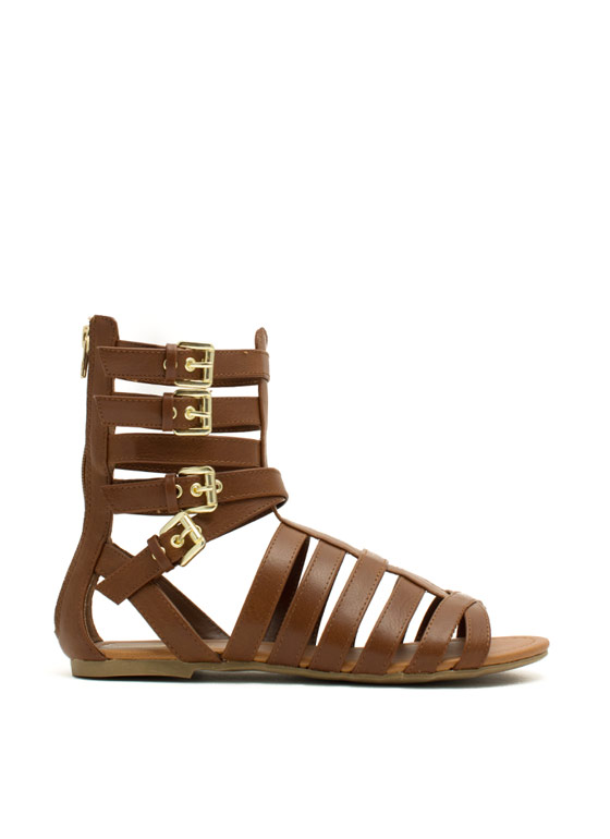 Four Good Strappy Gladiator Sandals TAN