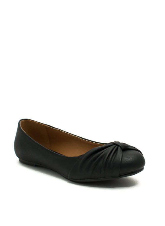 Bow My Goodness Ballet Flats BLACK