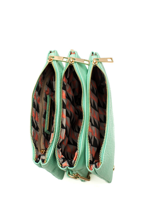 Triple Compartment Crossbody Bag MINT