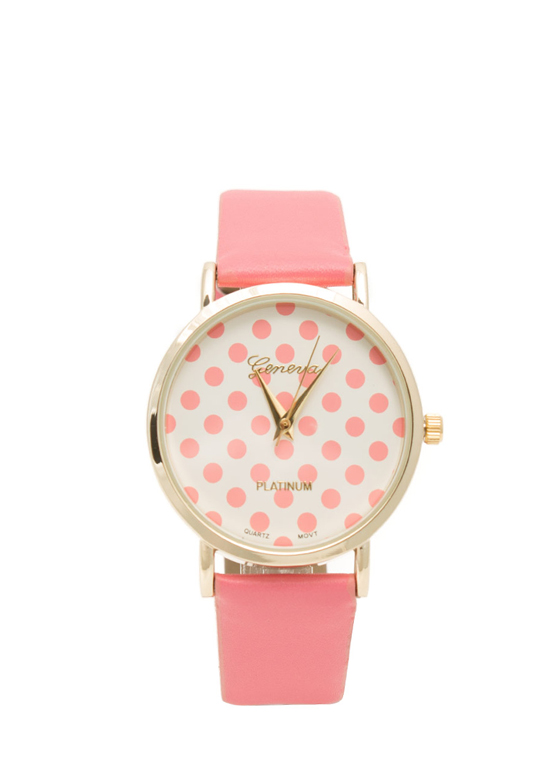 Polka Dot Watch CORAL