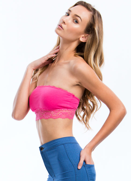 Lace Get Ready To Rumble Bandeau FUCHSIA