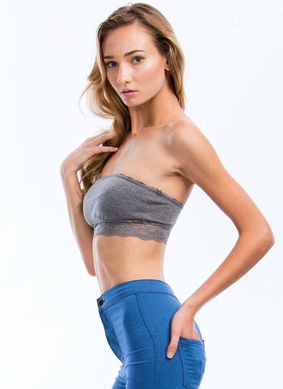Lace Get Ready To Rumble Bandeau HGREY