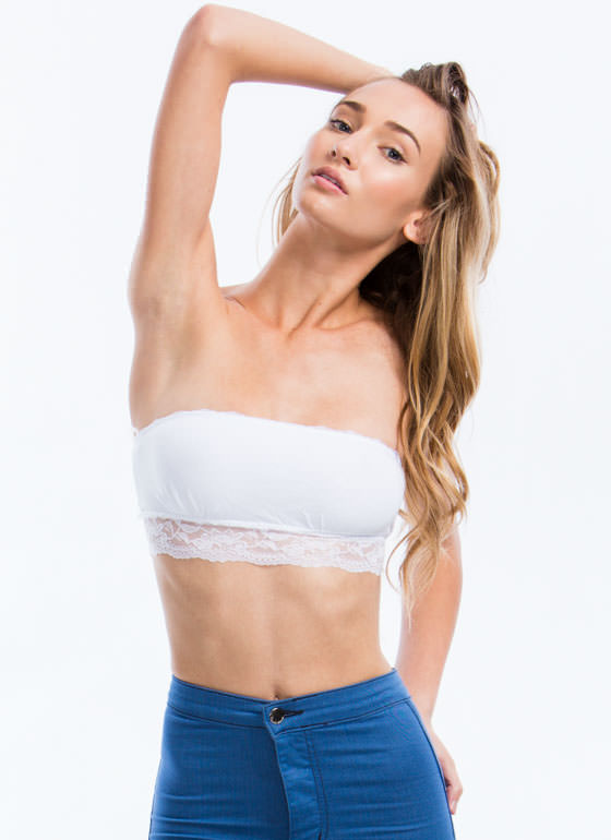 Lace Get Ready To Rumble Bandeau WHITE