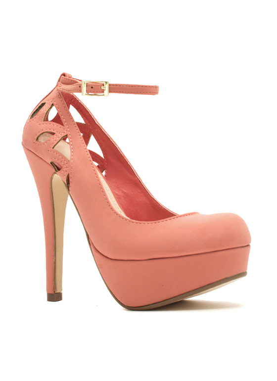 Cut-Out For This Ankle Strap Heels MELON