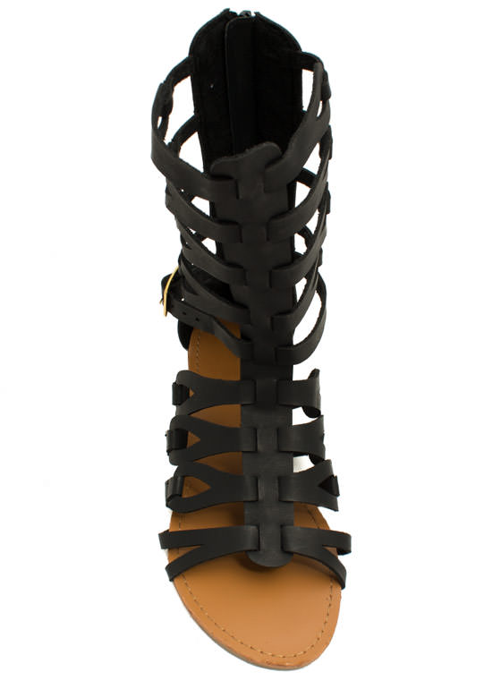 In The Loops Gladiator Sandals BLACK