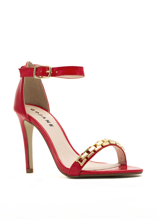 Single For A Chain-ge Platform Heels RED