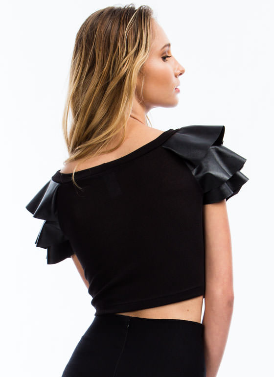 Soft Armor Cropped Top BLACK