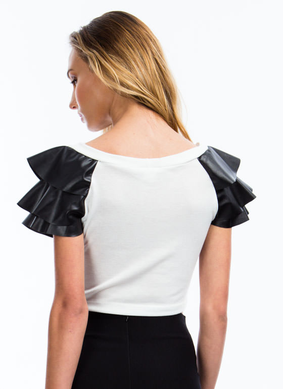 Soft Armor Cropped Top WHITE