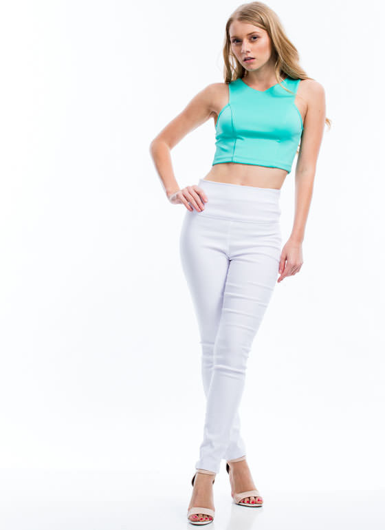 Structured 'N Seamed Cropped Top MINT