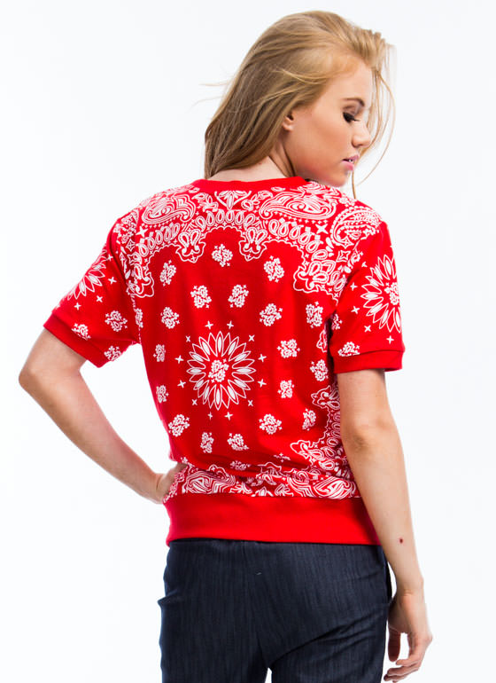 Bandana Inspiration Sweatshirt RED