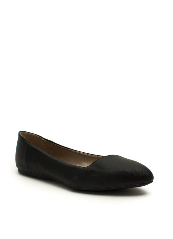 Crosshatch A Plan Wrapped Flats BLACK