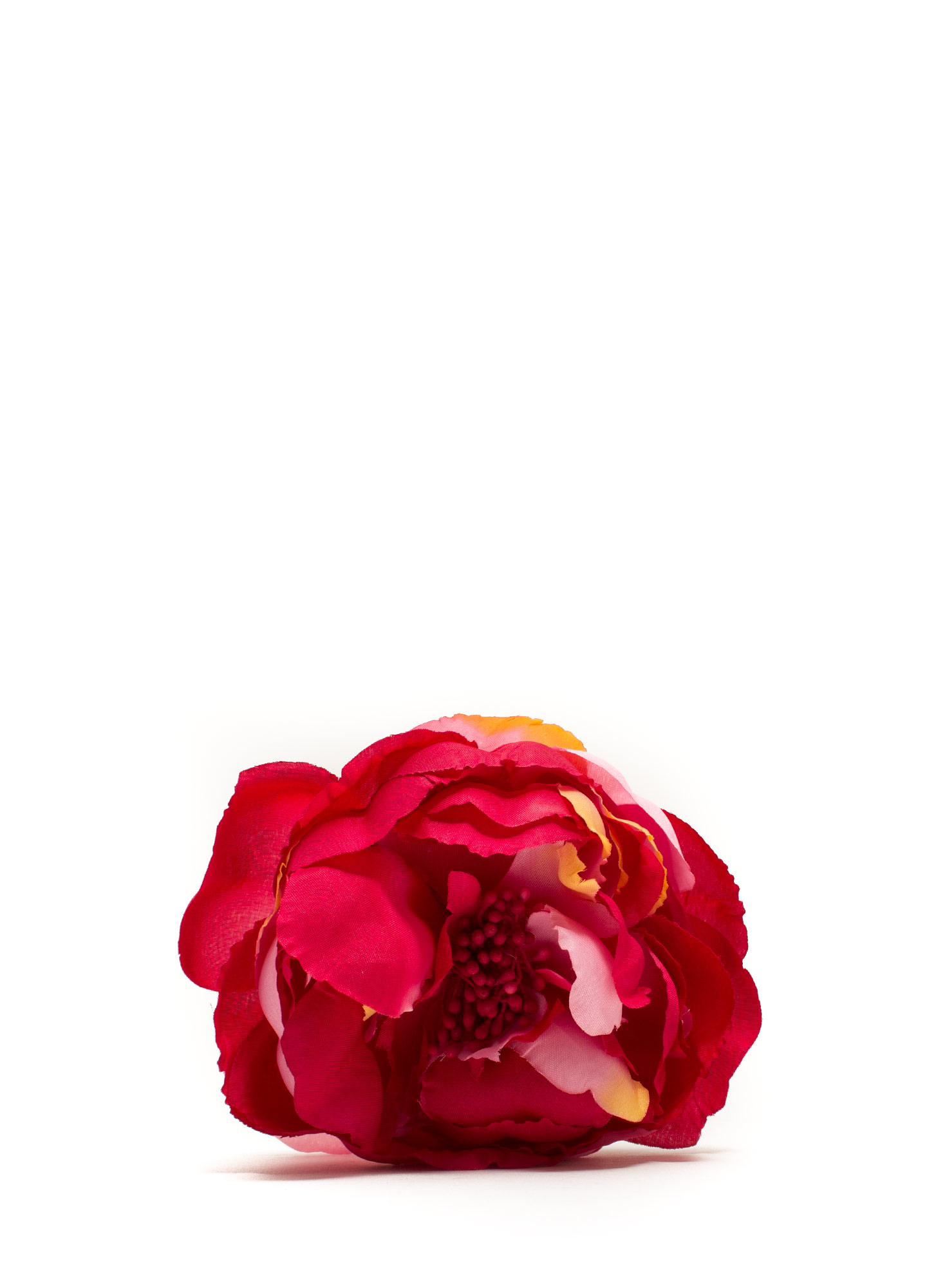 Oversized Flower Hair Accessory RED