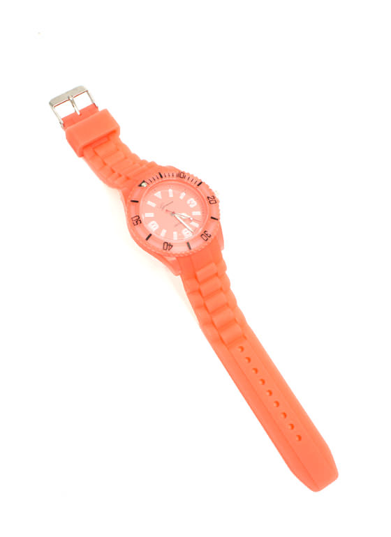 Rotating Seconds Jelly Boyfriend Watch NEONORANGE
